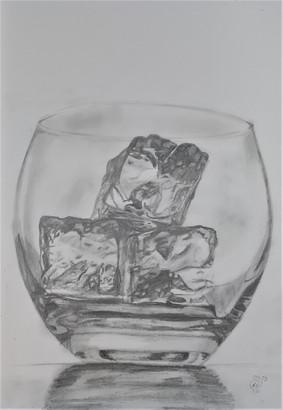 Glass of ice sketch by Luna Smith