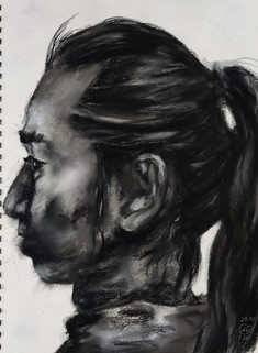 Male profile drawing by Luna Smith
