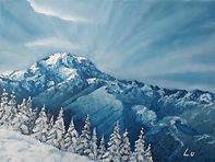 Snowy Mount Rainier by Lu