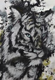 Snow tiger by Luna Smith