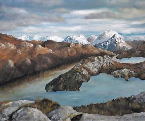 Daibaig by Luna Smith - A Scottish landscape- oil painting - MERI Timelless Eternal Art