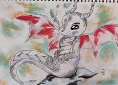 Cute BABY Dragon by Luna Smith