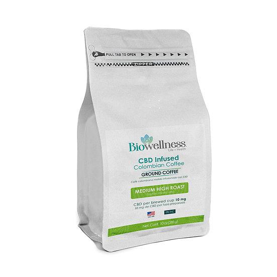 CBD Infused Colombian Coffee (10 oz)