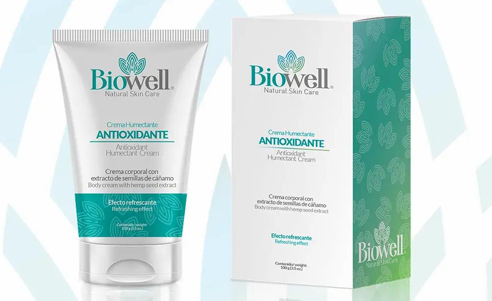 Crema Humectante, Relajante y Antioxidante Biowell