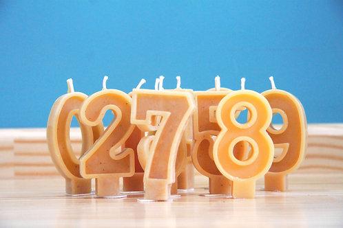 Velas de números aniversário
