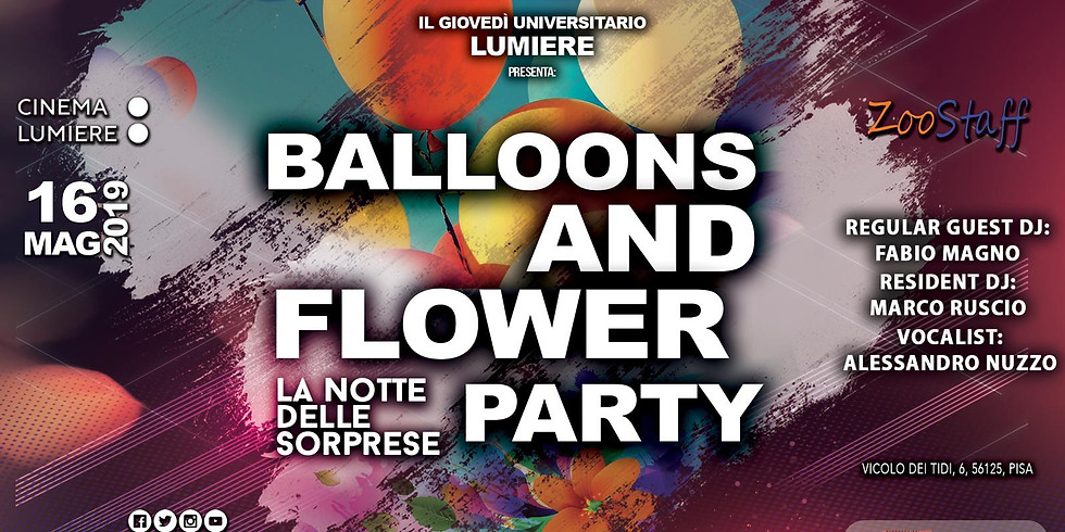 Balloons and flowers Party