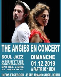 Affiche concert le café de l'époque, Rouen, 2019