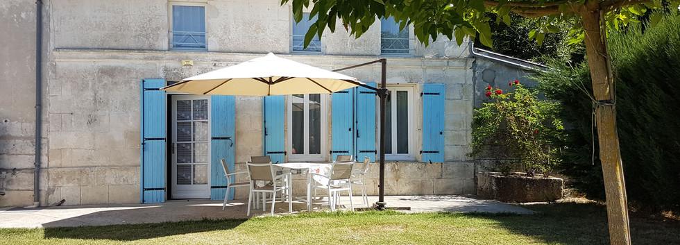 terrasse privative et aménagée