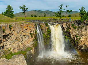 les plus endroits de mongolie, chutes de l'orkhon, chutes d'eau en Mongolie, lieux populaires mongolie
