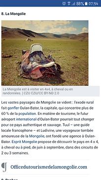 La Mongolie Les destinations préférées des français en 2018