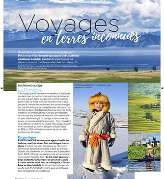En Mongolie Voyages en terres inconnues avec femme d'aujourdh'ui