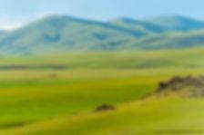 a cheval dans les steppes mongolie, mont