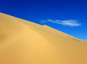 le sable du esert de gobi, un trek unique facile, taverser a mongolie a pied