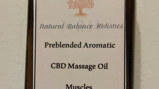 CBD massage oil, muscles 120ml