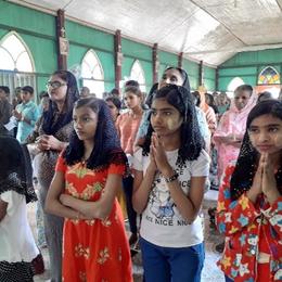 Feastday celebrations in church.