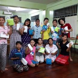 Activity workshop with Montessori teacher trainees.