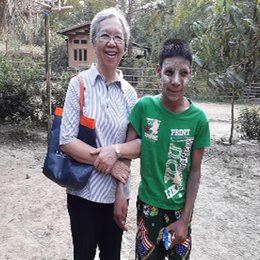 Sr Teresa with one of her friends with special needs.