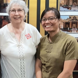Sr Brigitte Flourez with Martina beginning her novitiate in September 2020.