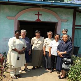 Nyaulangone community during Srs Brigitte and Jane's visit.