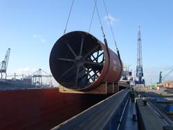 Unloading in Antwerp seaport