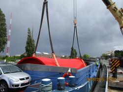 Loading on barge