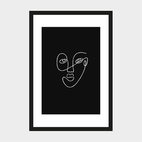 Portrait fond noir