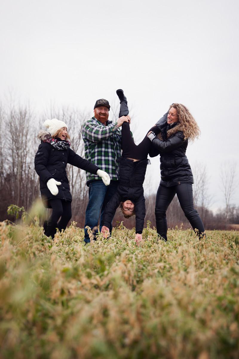 séance photo extérieure famille