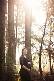 Photo maternité en forêt