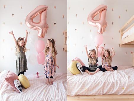 Les filles ont 4 ans!