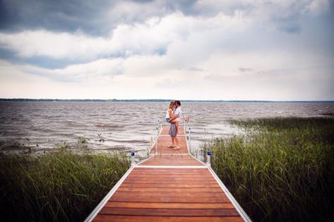 Séance couple au ciel orageux