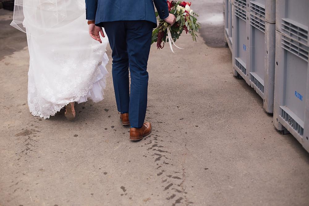Les mariés au Vignoble Rivière du Chêne