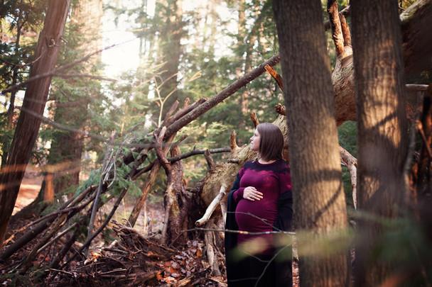 Séance maternité en forêt