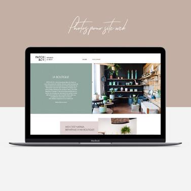 Photos, stylisme, image de marque et site web pour la boutique Patch & co.