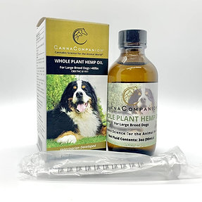 Whole Plant Hemp Oil for Large Dogs >40 lbs