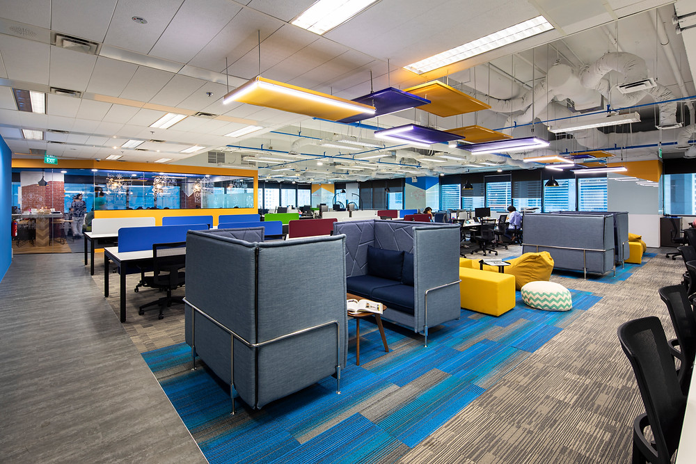 uplifting color of office design