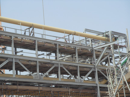 Pipe rack and piping