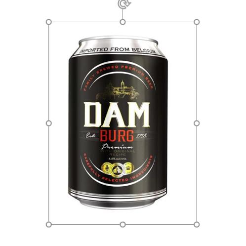 Dam Burg Premium Larger 330mL 4.5%