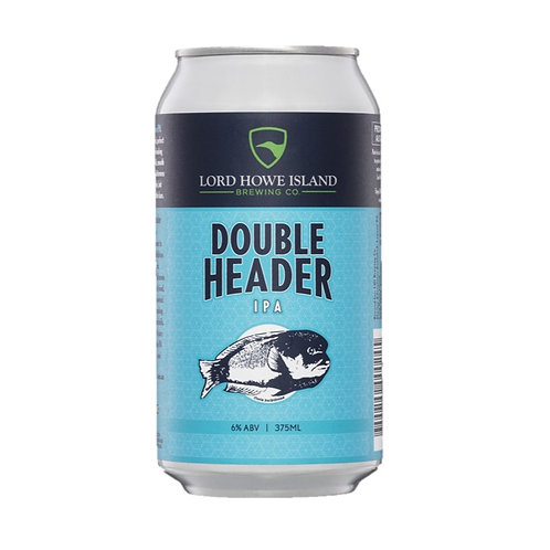 Lord Howe Island Brewing Double Header IPA Cans 375mL 6%