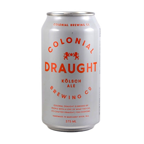 Colonial Brewing Co. Draught Kolsch Cans 375mL 4.8%