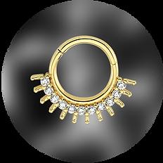 altın halka helix piercing