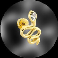 altın helix piercing