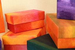 Schachtel überziehen mit Tapete