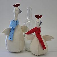 Huhn mit Flasche