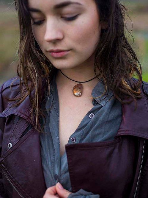 Leather Abalone Choker