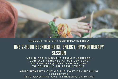 2-Hour Reiki, Energy & Hypnotherapy session