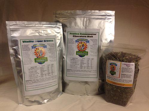 Vitality Super Greens, Vegan Protein & Tea - Small Combo