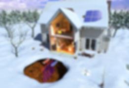 Winter Heating Mode of a Bosch Heat Pump