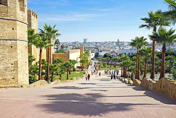 City wall from old Rabat in Morocco Afri