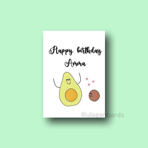 amma birthday avocado