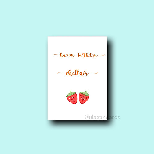 chellam birthday strawberries